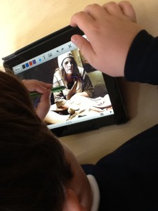 Creating a presentation and annotating it after a visit to Warwick Castle