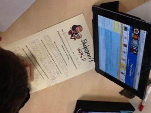 Researching info about Shakespeare to answer comprehension sheets